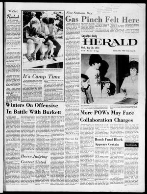 Primary view of Sapulpa Daily Herald (Sapulpa, Okla.), Vol. 59, No. 221, Ed. 1 Wednesday, May 30, 1973