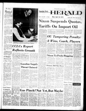 Primary view of Sapulpa Daily Herald (Sapulpa, Okla.), Vol. 59, No. 185, Ed. 1 Wednesday, April 18, 1973