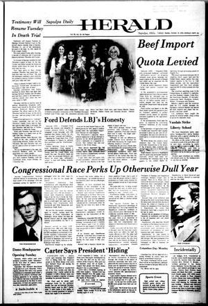Primary view of Sapulpa Daily Herald (Sapulpa, Okla.), Vol. 63, No. 23, Ed. 1 Sunday, October 10, 1976