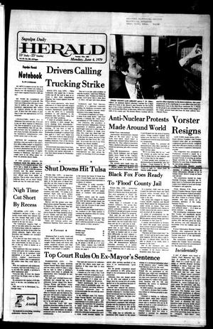 Primary view of Sapulpa Daily Herald (Sapulpa, Okla.), Vol. 65, No. 224, Ed. 1 Monday, June 4, 1979