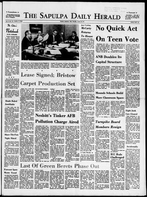 Primary view of The Sapulpa Daily Herald (Sapulpa, Okla.), Vol. 57, No. 126, Ed. 1 Thursday, January 28, 1971