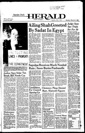 Primary view of Sapulpa Daily Herald (Sapulpa, Okla.), Vol. 66, No. 163, Ed. 1 Monday, March 24, 1980