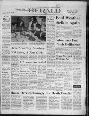 Primary view of Sapulpa Daily Herald (Sapulpa, Okla.), Vol. 59, No. 125, Ed. 1 Wednesday, February 7, 1973