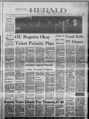 Primary view of Sapulpa Daily Herald (Sapulpa, Okla.), Vol. 60, No. 155, Ed. 1 Thursday, March 14, 1974