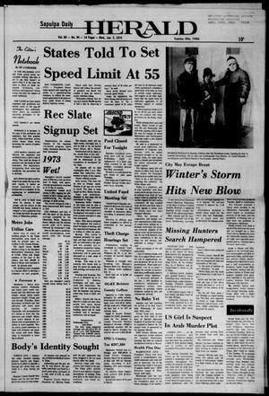 Primary view of Sapulpa Daily Herald (Sapulpa, Okla.), Vol. 60, No. 94, Ed. 1 Wednesday, January 2, 1974