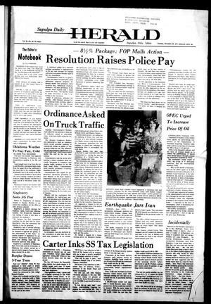 Primary view of Sapulpa Daily Herald (Sapulpa, Okla.), Vol. 64, No. 83, Ed. 1 Tuesday, December 20, 1977