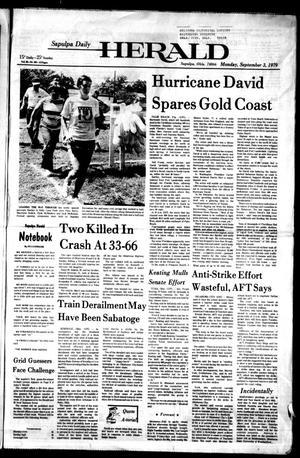 Primary view of Sapulpa Daily Herald (Sapulpa, Okla.), Vol. 65, No. 301, Ed. 1 Monday, September 3, 1979