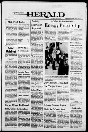 Primary view of Sapulpa Daily Herald (Sapulpa, Okla.), Vol. 64, No. 31, Ed. 1 Wednesday, October 19, 1977