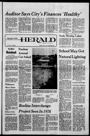 Primary view of Sapulpa Daily Herald (Sapulpa, Okla.), Vol. 64, No. 18, Ed. 1 Tuesday, October 4, 1977