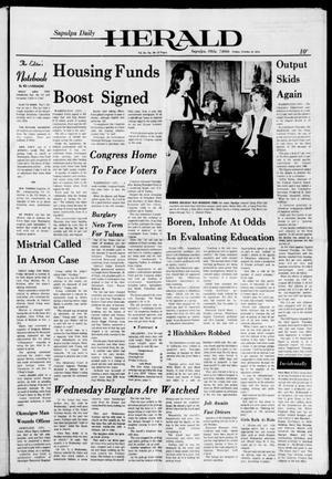 Primary view of Sapulpa Daily Herald (Sapulpa, Okla.), Vol. 61, No. 30, Ed. 1 Friday, October 18, 1974