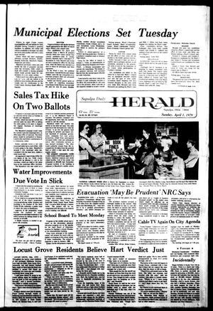 Primary view of Sapulpa Daily Herald (Sapulpa, Okla.), Vol. 65, No. 169, Ed. 1 Sunday, April 1, 1979