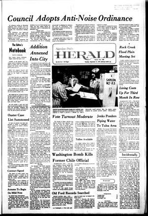 Primary view of Sapulpa Daily Herald (Sapulpa, Okla.), Vol. 63, No. 7, Ed. 1 Tuesday, September 21, 1976