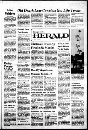 Primary view of Sapulpa Daily Herald (Sapulpa, Okla.), Vol. 62, No. 302, Ed. 1 Thursday, September 2, 1976