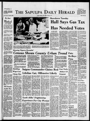 Primary view of The Sapulpa Daily Herald (Sapulpa, Okla.), Vol. 57, No. 141, Ed. 1 Monday, February 15, 1971