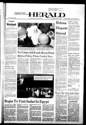 Primary view of Sapulpa Daily Herald (Sapulpa, Okla.), Vol. 64, No. 82, Ed. 1 Monday, December 19, 1977