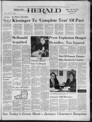 Primary view of Sapulpa Daily Herald (Sapulpa, Okla.), Vol. 59, No. 108, Ed. 1 Thursday, January 18, 1973