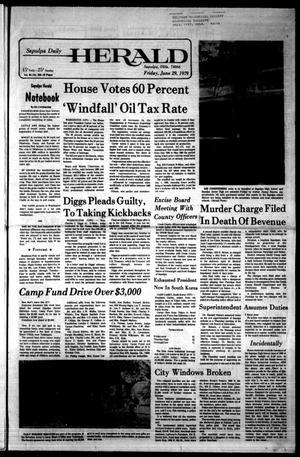 Primary view of Sapulpa Daily Herald (Sapulpa, Okla.), Vol. 65, No. 246, Ed. 1 Friday, June 29, 1979