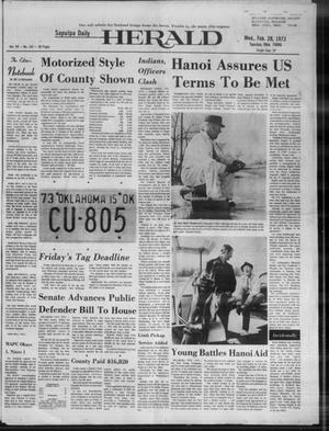 Primary view of Sapulpa Daily Herald (Sapulpa, Okla.), Vol. 59, No. 143, Ed. 1 Wednesday, February 28, 1973
