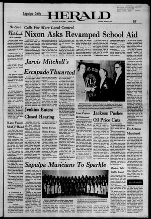 Primary view of Sapulpa Daily Herald (Sapulpa, Okla.), Vol. 60, No. 113, Ed. 1 Thursday, January 24, 1974