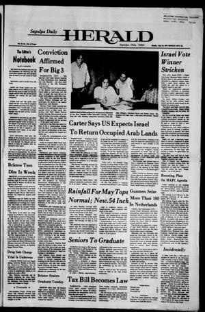 Primary view of Sapulpa Daily Herald (Sapulpa, Okla.), Vol. 63, No. 214, Ed. 1 Monday, May 23, 1977