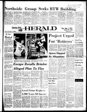 Primary view of Sapulpa Daily Herald (Sapulpa, Okla.), Vol. 59, No. 279, Ed. 1 Tuesday, August 7, 1973
