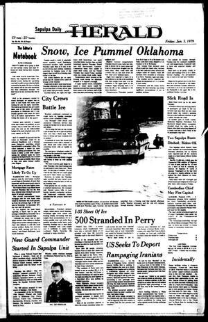 Primary view of Sapulpa Daily Herald (Sapulpa, Okla.), Vol. 65, No. 96, Ed. 1 Friday, January 5, 1979
