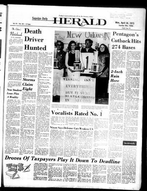 Primary view of Sapulpa Daily Herald (Sapulpa, Okla.), Vol. 59, No. 183, Ed. 1 Monday, April 16, 1973