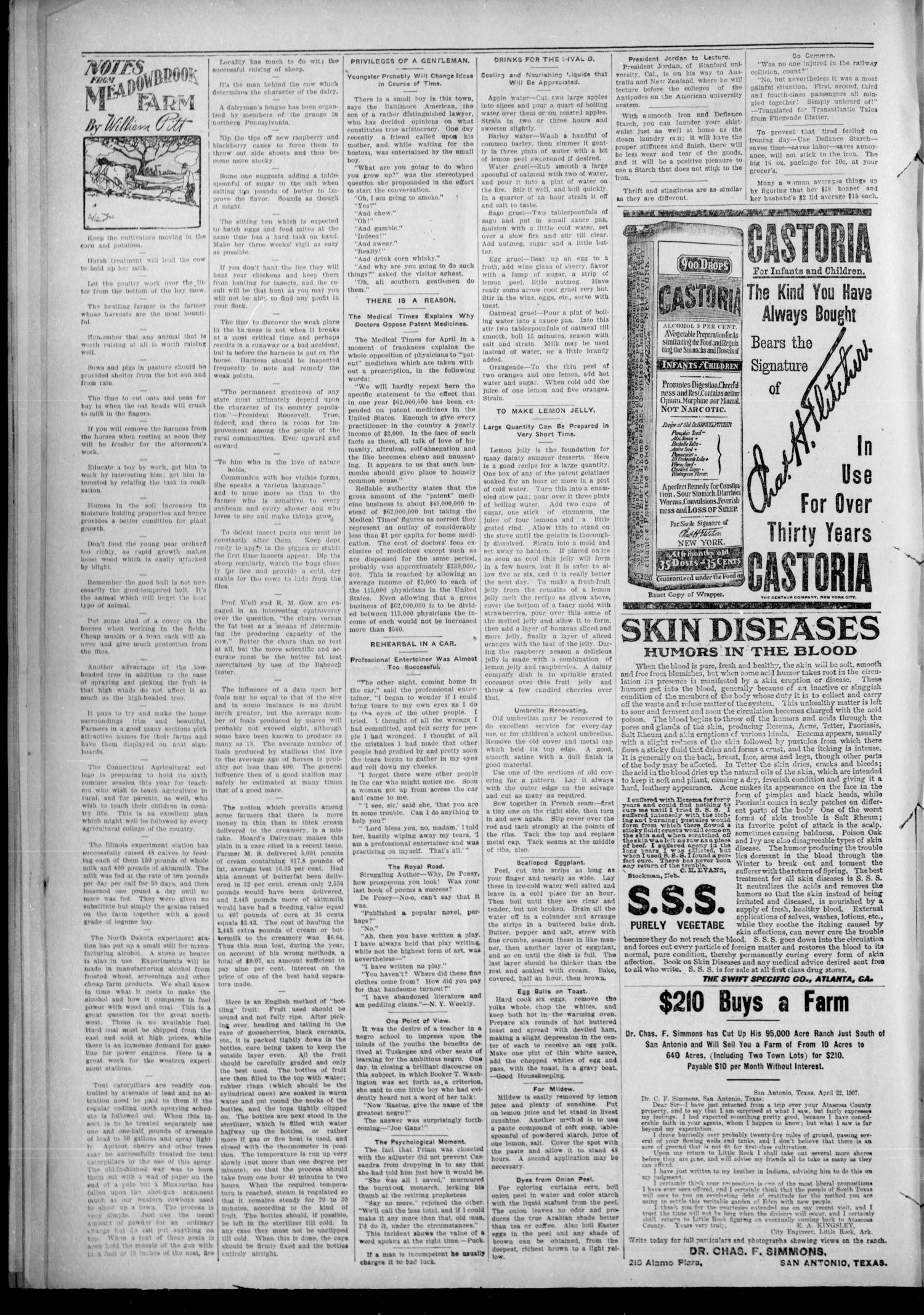 The Sapulpa Light. (Sapulpa, Indian Terr.), Vol. 11, No. 21, Ed. 1 Friday, July 12, 1907                                                                                                      [Sequence #]: 4 of 12