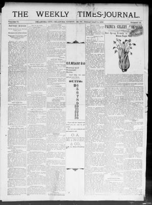 Primary view of object titled 'The Weekly Times-Journal. (Oklahoma City, Okla. Terr.), Vol. 6, No. 44, Ed. 1 Friday, May 3, 1895'.