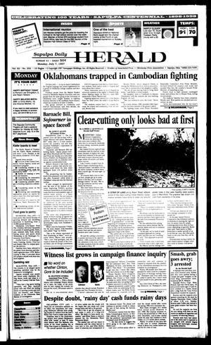 Primary view of Sapulpa Daily Herald (Sapulpa, Okla.), Vol. 82, No. 252, Ed. 1 Monday, July 7, 1997