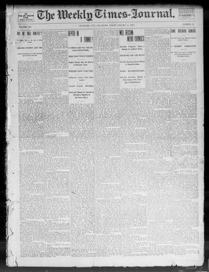 Primary view of object titled 'The Weekly Times-Journal. (Oklahoma City, Okla.), Vol. 13, No. 38, Ed. 1 Friday, January 10, 1902'.