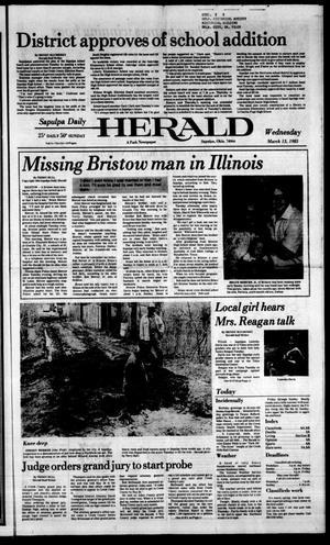 Primary view of Sapulpa Daily Herald (Sapulpa, Okla.), Vol. 71, No. 154, Ed. 1 Wednesday, March 13, 1985
