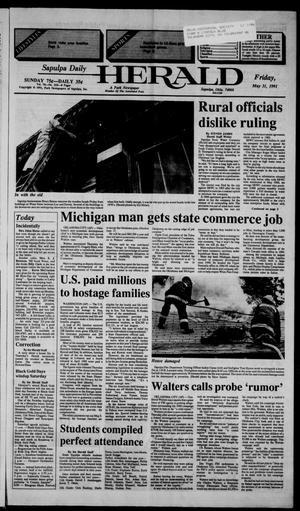 Primary view of Sapulpa Daily Herald (Sapulpa, Okla.), Vol. 77, No. 222, Ed. 1 Friday, May 31, 1991