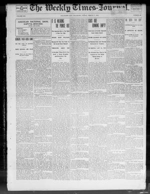 Primary view of object titled 'The Weekly Times-Journal. (Oklahoma City, Okla.), Vol. 13, No. 46, Ed. 1 Friday, March 7, 1902'.