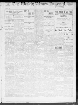 Primary view of object titled 'The Weekly Times-Journal. (Oklahoma City, Okla.), Vol. 13, No. 48, Ed. 1 Friday, March 21, 1902'.