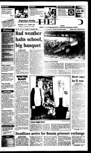 Primary view of Sapulpa Daily Herald (Sapulpa, Okla.), Vol. 82, No. 110, Ed. 1 Friday, January 19, 1996