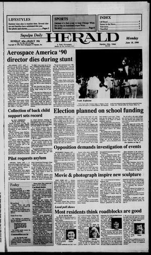 Primary view of Sapulpa Daily Herald (Sapulpa, Okla.), Vol. 76, No. 237, Ed. 1 Monday, June 18, 1990