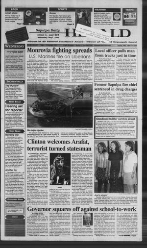 Primary view of Sapulpa Daily Herald (Sapulpa, Okla.), Vol. 81, No. 199, Ed. 1 Wednesday, May 1, 1996