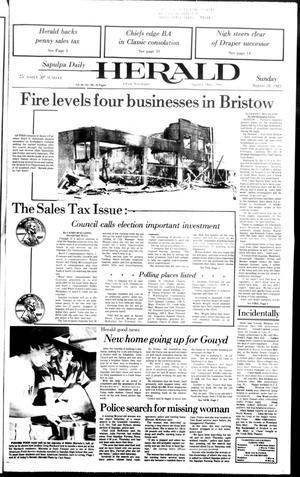 Primary view of Sapulpa Daily Herald (Sapulpa, Okla.), Vol. 69, No. 298, Ed. 1 Sunday, August 28, 1983