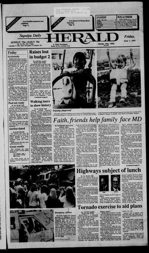 Primary view of Sapulpa Daily Herald (Sapulpa, Okla.), Vol. 77, No. 228, Ed. 1 Friday, June 7, 1991