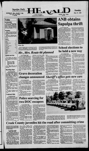 Primary view of Sapulpa Daily Herald (Sapulpa, Okla.), Vol. 76, No. 218, Ed. 1 Sunday, May 27, 1990