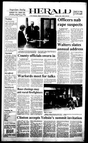 Primary view of Sapulpa Daily Herald (Sapulpa, Okla.), Vol. 79, No. 96, Ed. 1 Monday, January 4, 1993