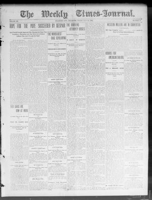 Primary view of object titled 'The Weekly Times-Journal. (Oklahoma City, Okla.), Vol. 15, No. 12, Ed. 1 Friday, July 10, 1903'.