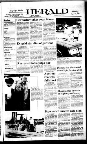Primary view of Sapulpa Daily Herald (Sapulpa, Okla.), Vol. 77, No. 296, Ed. 1 Monday, August 26, 1991