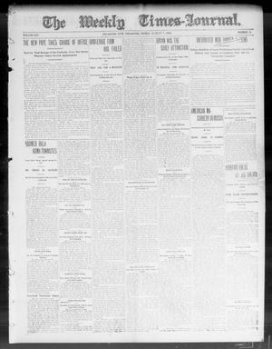 Primary view of object titled 'The Weekly Times-Journal. (Oklahoma City, Okla.), Vol. 15, No. 16, Ed. 1 Friday, August 7, 1903'.