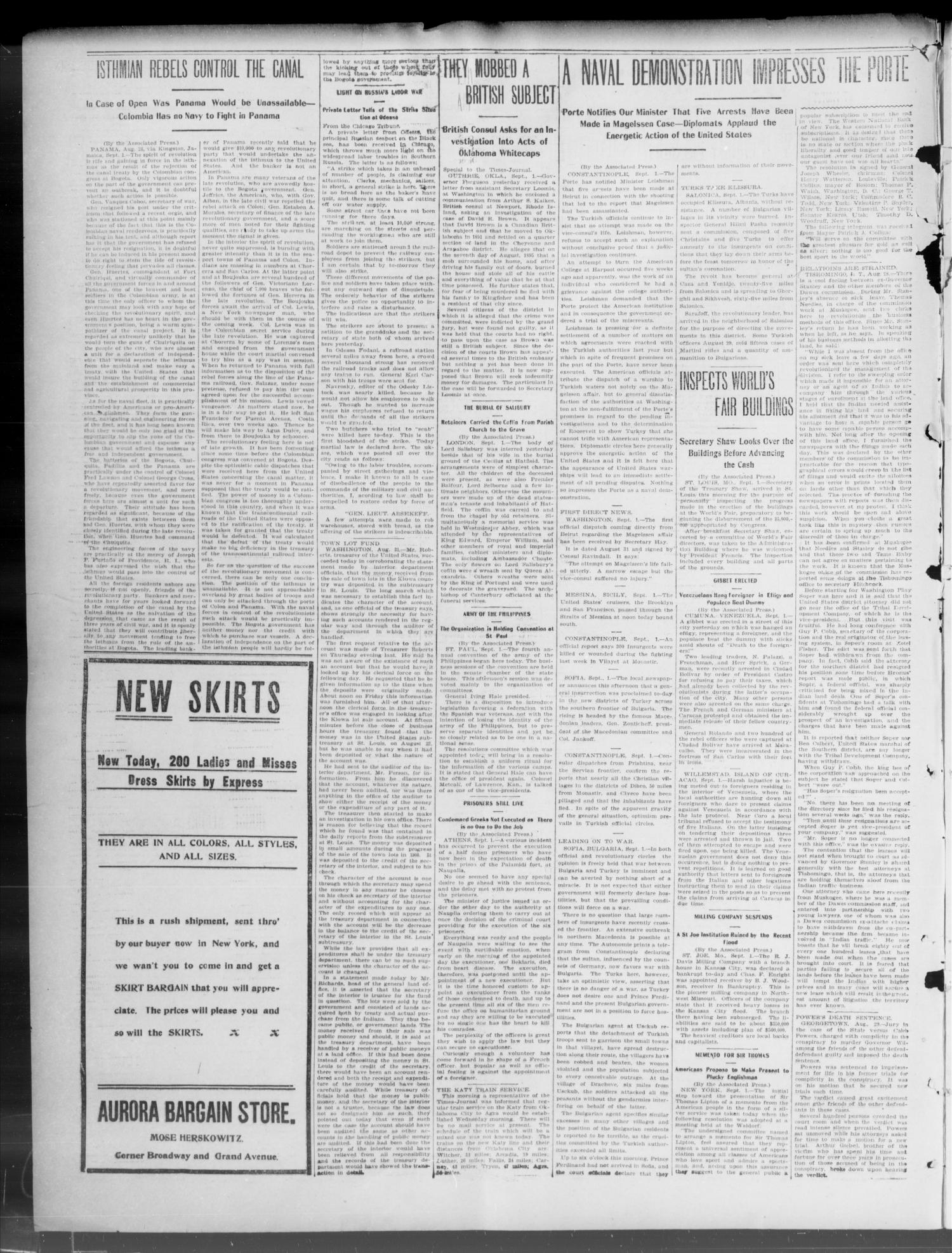 The Weekly Times-Journal. (Oklahoma City, Okla.), Vol. 15, No. 20, Ed. 1 Friday, September 4, 1903                                                                                                      [Sequence #]: 2 of 8