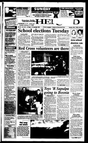 Primary view of Sapulpa Daily Herald (Sapulpa, Okla.), Vol. 82, No. 129, Ed. 1 Sunday, February 11, 1996