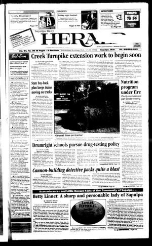 Primary view of Sapulpa Daily Herald (Sapulpa, Okla.), Vol. 84, No. 29, Ed. 1 Sunday, October 18, 1998