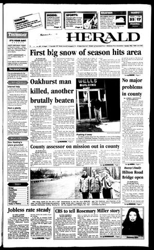 Primary view of Sapulpa Daily Herald (Sapulpa, Okla.), Vol. 82, No. 101, Ed. 1 Thursday, January 9, 1997
