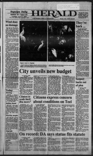 Primary view of Sapulpa Daily Herald (Sapulpa, Okla.), Vol. 79, No. 229, Ed. 1 Tuesday, June 8, 1993